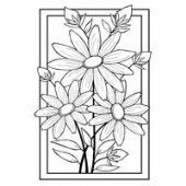 Woodware - Boxed Daisy Trio - Clear Magic Single Stamp - JGS377